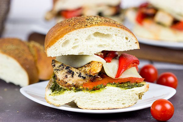 Featuring tasty basil pesto and crunchy French bread, these Grilled Chicken Pesto Sandwiches are perfect for dinner on the grill!