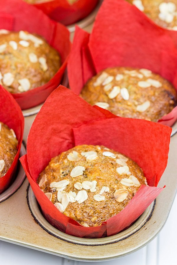 Loaded with fruits and nuts, these Morning Glory Muffins are a delicious breakfast treat!