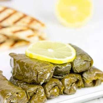 Filled with the flavors of lemon, dill and parsley, these Stuffed Grape Leaves are a fun way to enjoy classic Greek food at home!
