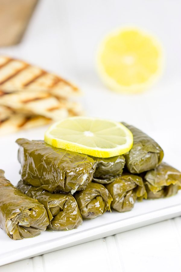 Stuffed Grape Leaves Classic Greek Dish Filled With Lemon Dill Parsley