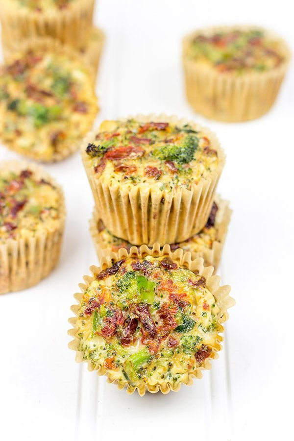 These Broccoli & Sun-Dried Tomato Egg Cups are perfect for a quick breakfast or lunch on the go!