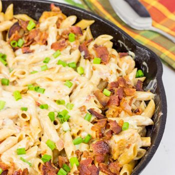 This Chicken Bacon Ranch Pasta is one heck of an epic 1-pot weeknight meal!