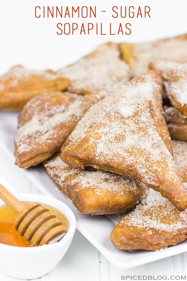 Dusted with cinnamon and sugar and served with honey, these Cinnamon Sugar Sopapillas are the perfect way to end a meal!