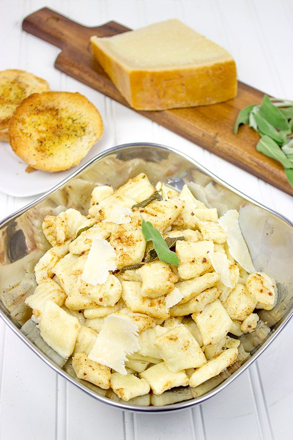 This light and fluffy Potato Gnocchi is complemented with a delicious (yet simple!) Sage Brown Butter Sauce. Buon appetito!