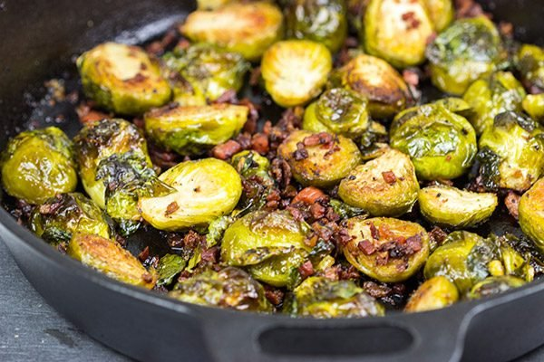 These Roasted Brussels Sprouts with Pancetta aren't your mom's Brussels sprouts.