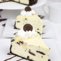 This Oreo Cheesecake features creamy cheesecake combined with crunchy Oreo cookies...and it's one of my all-time favorites!