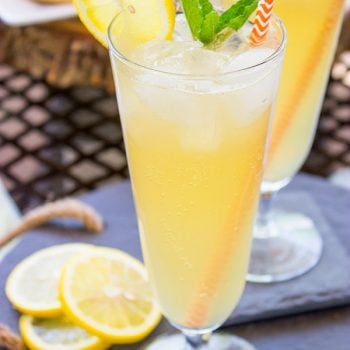 Sweetened with maple syrup, this Sparkling Maple Lemonade is a refreshing drink to serve on a hot summer day! #SausageFamily