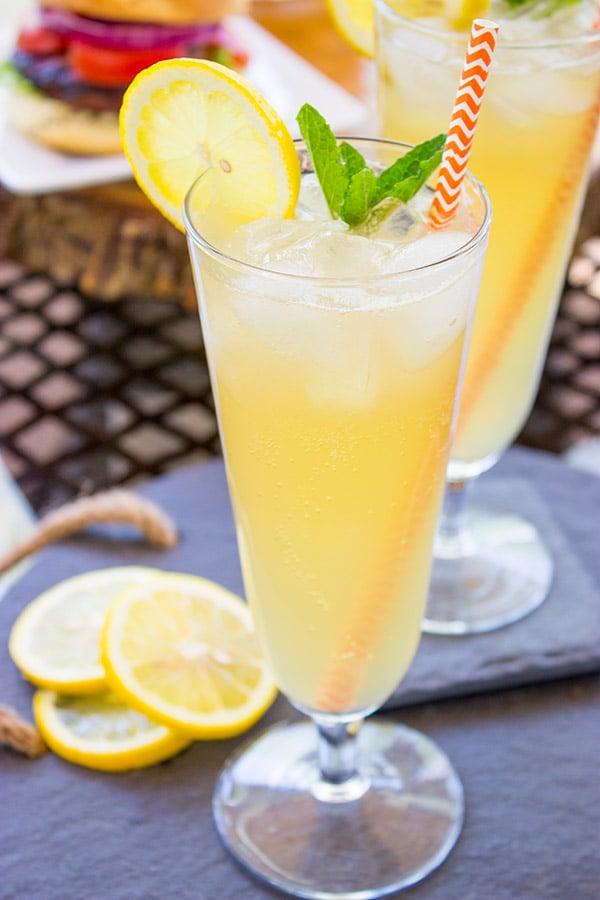 Sparkling Maple Lemonade