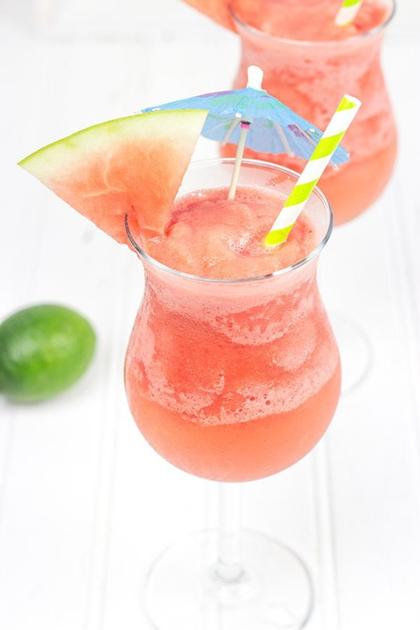 Blend up a batch of these Watermelon Daiquiris for some fun in the sun this summer!