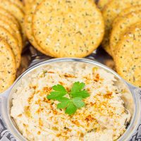 Just in time for tailgate season, this Hot Cajun Crab Dip will be the hit of the party!