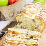 Maple Glazed Apple Pecan Bread
