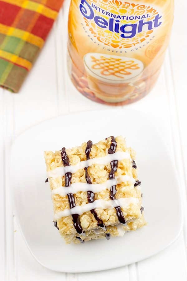 The addition of chocolate and caramel flavors take this childhood favorite to a whole new level! These Chocolate Caramel Rice Crispy Treats are one tasty dessert!