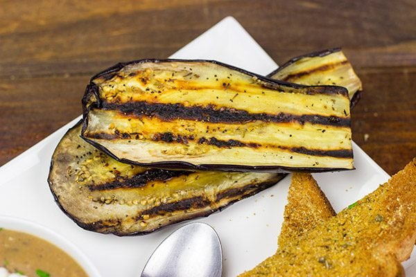We're still in grilling season, but the days are getting cooler...this clearly calls for a batch of Grilled Eggplant Soup!