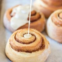 These Maple Glazed Cinnamon Rolls are light, fluffy and filled with cinnamon and Vermont maple syrup!