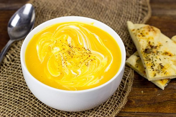 This Butternut Squash and Cider Soup is easy, healthy and perfect for a chilly Fall day!