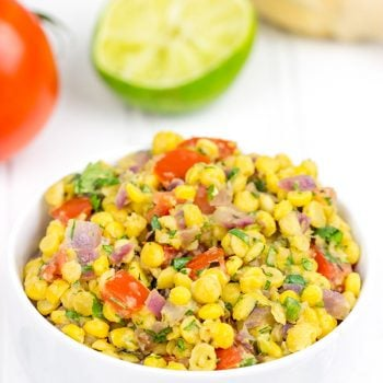This Indian Spiced Chickpea Salad is a hearty and delicious side dish for chilly Fall days!