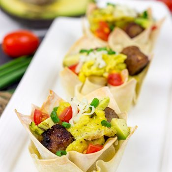 Get your morning started off right with these fun and tasty Sausage and Egg Taco Cups!