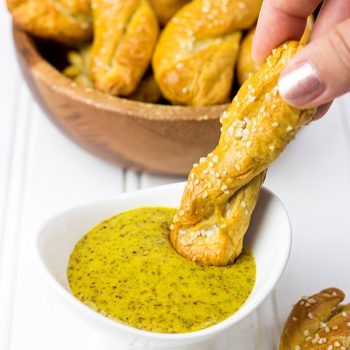 These Sourdough Pretzels Twists are a great gameday snack! Try dipping 'em in homemade Beer Mustard, too!