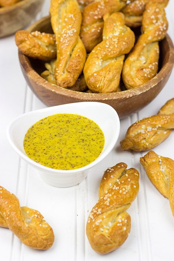 These Sourdough Pretzel Twists are a great gameday snack! Try dipping 'em in homemade Beer Mustard, too!