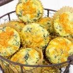 Spinach Cheddar Cornbread Muffins