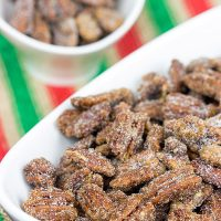These classic Sugared Pecans are a quick and easy snack to keep around during the holidays!