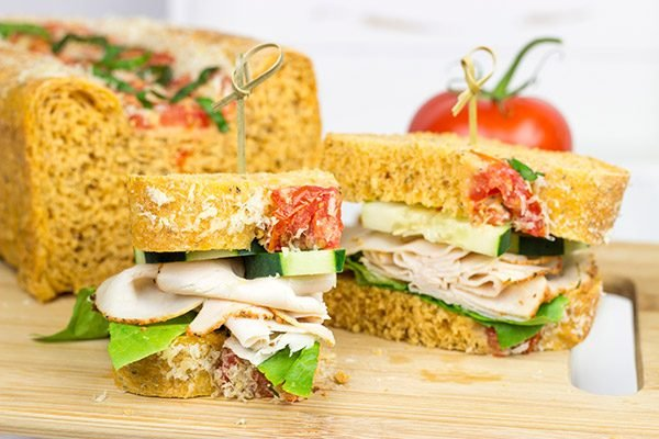 A sandwich is only as good as the bread it is served on. That's where this amazing Tomato Basil Bread comes in!