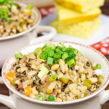 Bring good luck in the new year by eating a big bowl of Hoppin' John on New Year's Day!