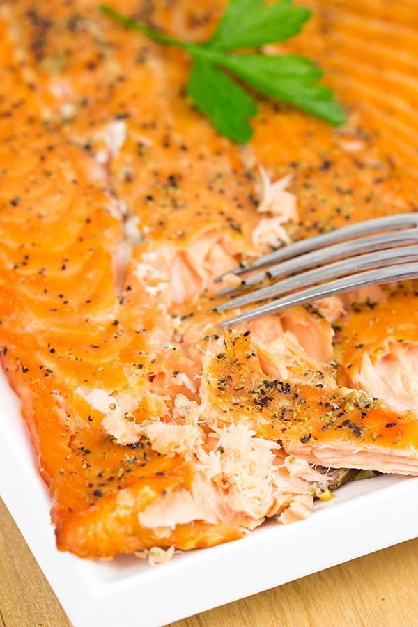 Making smoked salmon at home is easier than you might think! This Maple Smoked Salmon is one of our favorites!