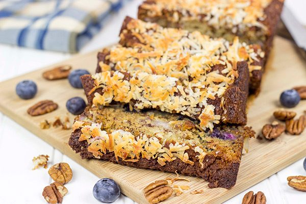 This Blueberry Coconut Banana Bread is packed with flavor, and it makes for one heck of a Saturday morning breakfast!