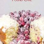Coconut Cranberry Pound Cake