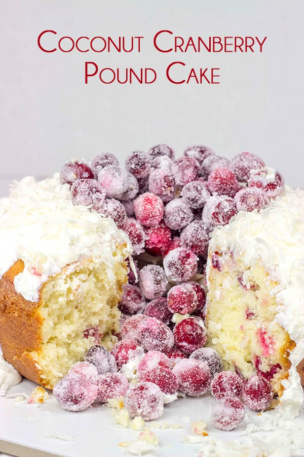 This Coconut Cranberry Pound Cake is a fun and festive way to celebrate the season!