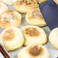 Love English muffins? Then try your hand at making a batch of these Homemade English Muffins!