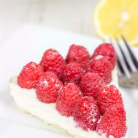 Featuring a light, lemony base and topped with fresh Driscoll's raspberries, this tart is bound to be a new holiday favorite in your house!