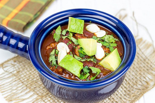 Forget the pancakes...maple syrup is a great addition to chili! This Smoky and Sweet Turkey Chili is perfect for cold Autumn evenings!