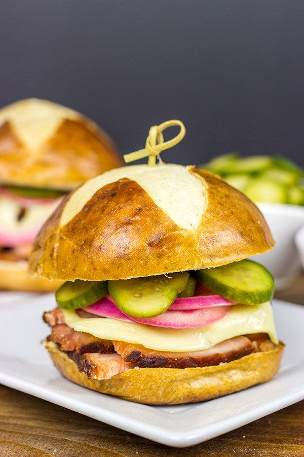 Mix up with your Thanksgiving leftovers with this tasty Bavarian Ham Sandwich!