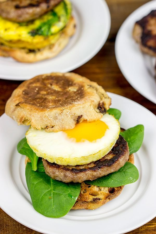 Sausage And Egg Muffin Sandwiches