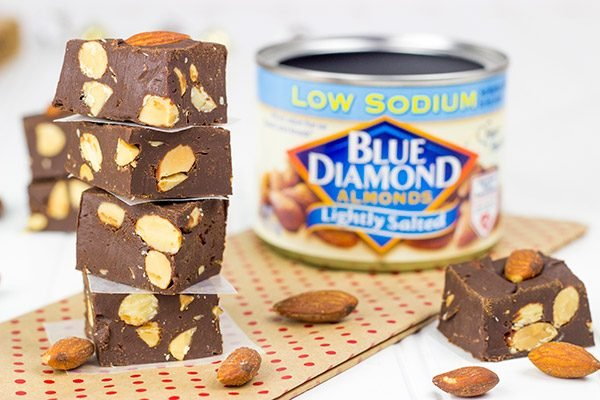 Need an easy treat for Christmas Eve or New Year's celebrations? How about this Dark Chocolate Almond Fudge?