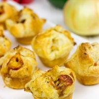These bite-sized Sausage and Pepper Puffs are the perfect gameday appetizer!