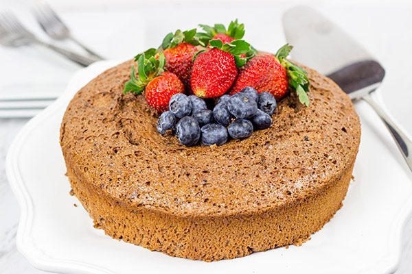 Looking for a decadent chocolate dessert without all of the calories? Try this Chocolate Angel Food Cake!