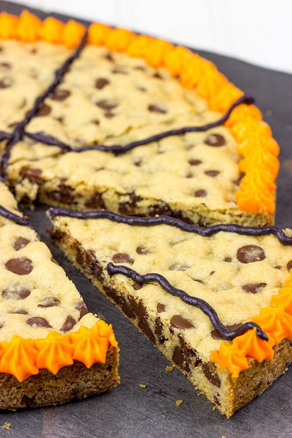 Get into the party spirit with this tasty Chocolate Chip Cookie Cake!