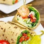 Greek Salad Wraps with Shrimp