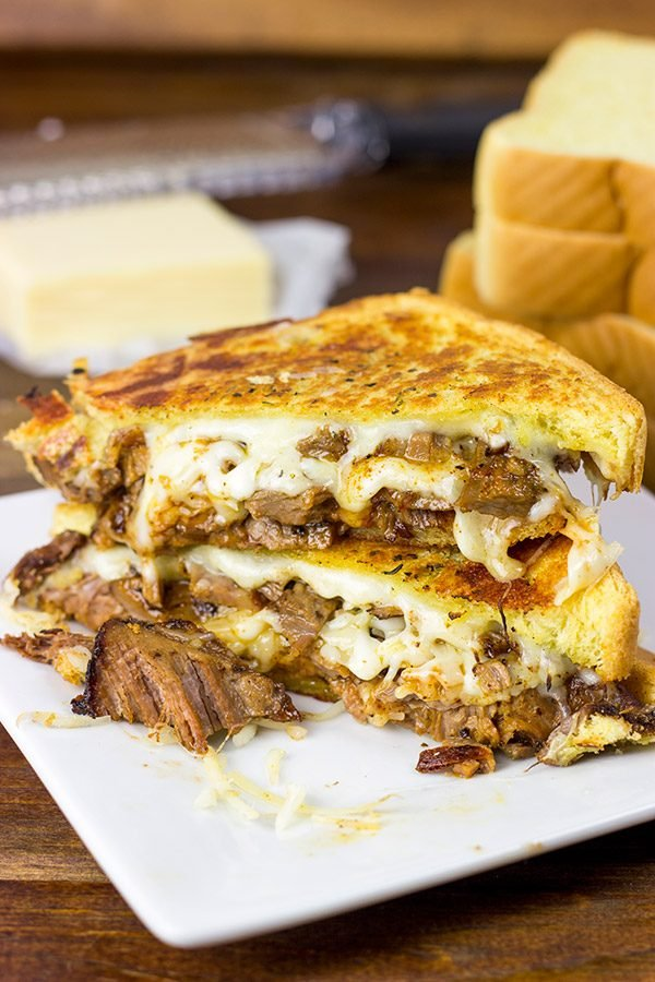 Make your next sandwich epic with this Smoked Brisket Grilled Cheese!