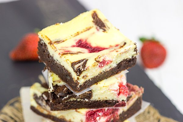 It's a cheesecake! No, it's a brownie! No, it's Strawberry Cheesecake Brownies!