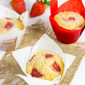 Celebrate the arrival of berry season with these Fresh Strawberry Muffins!