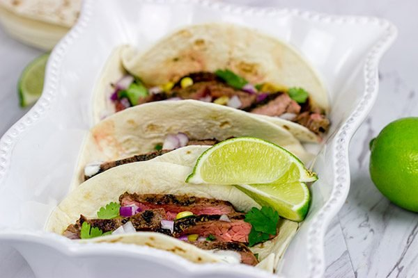 Grilled Flank Steak Tacos are an easy and delicious way to celebrate warm summer nights on the back porch!