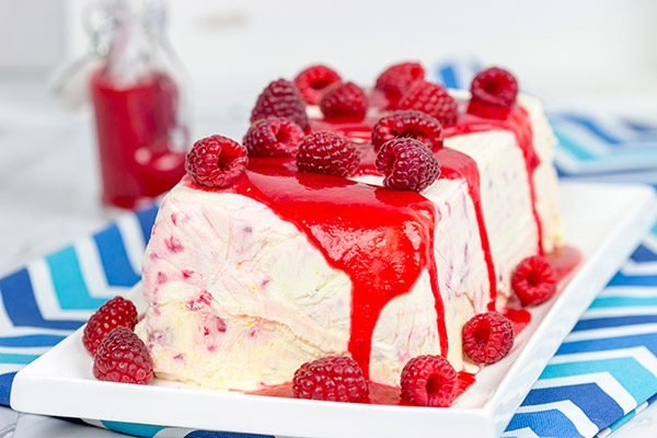 Featuring a raspberry sauce made with limoncello, this Lemon Raspberry Semifreddo is a perfect way to welcome in the warmer temperatures!