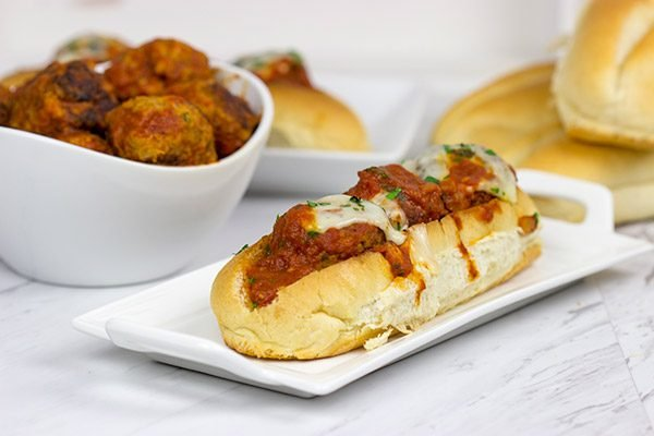 These Slow Cooker Meatball Subs are an easy and delicious winter meal!