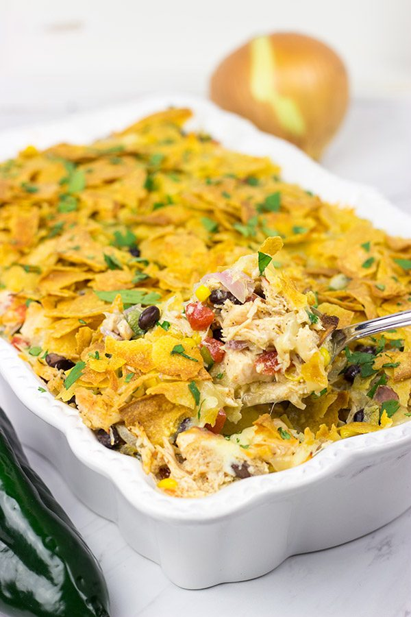 Looking for an easy weeknight dinner? How about this tasty Southwestern Chicken Taco Bake?