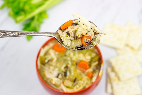 A homemade pot of Chicken and Wild Rice Soup is the ultimate comfort food!
