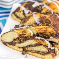 Layers of chocolate, peanut butter and soft dough are twisted together to create this tasty Chocolate Peanut Butter Twist Bread.